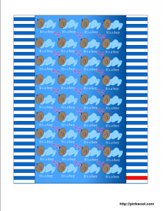 Free printable candy wrapper for baby boy shower, African-American
