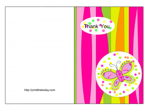 Free Baby Shower Thank You Card