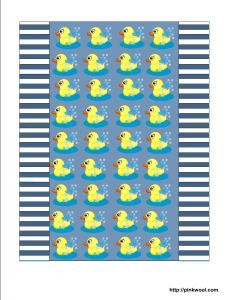 free printable candy wrapper with cute ducky