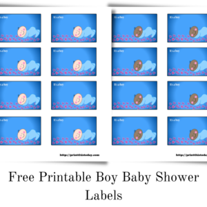 Free Printable Boy Baby Shower Labels