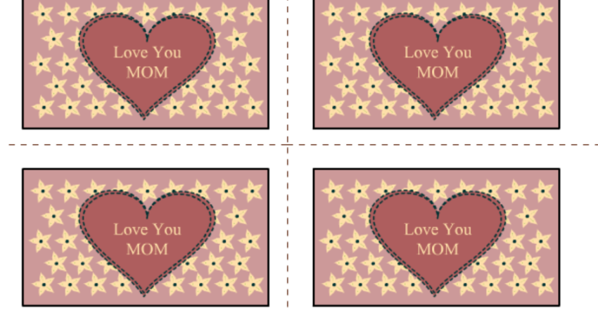 Free Printable Mother's Day Labels