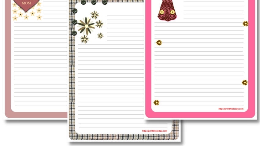 Free Printable Mother's Day Writing Paper Stationery