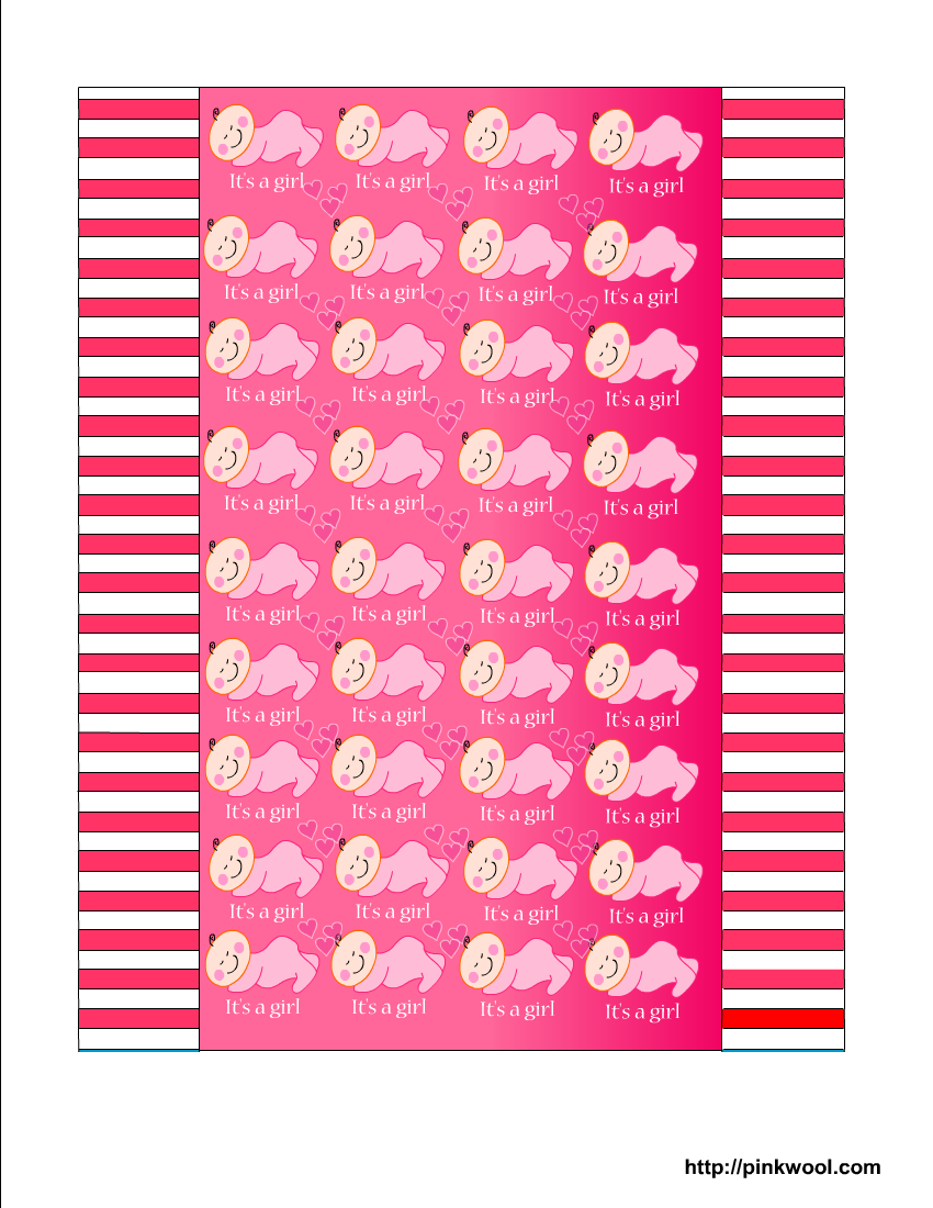 Free Printable Baby Shower Candy Wrappers for Girl and Boy Showers