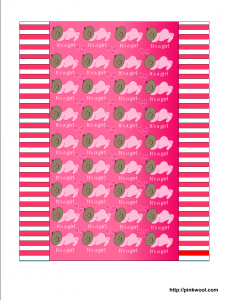 Free printable candy wrapper for baby girl shower, African American