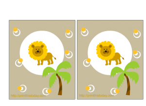 free printable jungle baby shower invitations with Lion