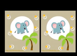 Free Jungle animals baby shower invitations