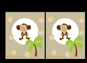 Free Printable Jungle baby animals invitations