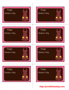 free mothers day labels printable template with apron and daisies