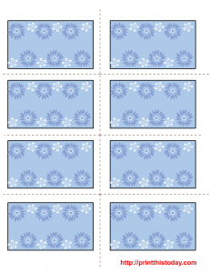 Free Printable Mother's Day Labels in Blue Color