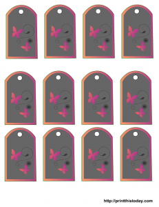 Adorable free printable tags with butterflies and flowers for mothers day