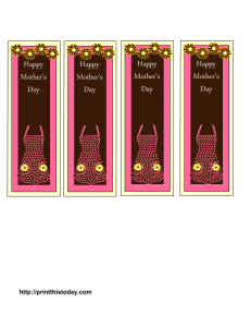 free bookmarks for mothers day
