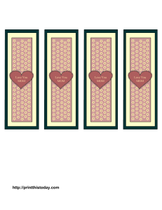 Mother's day bookmarks free printable template