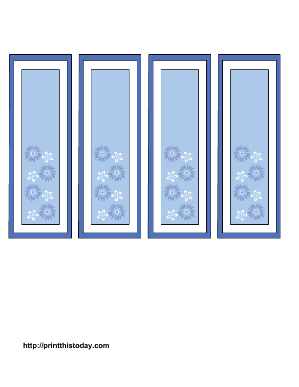 mother's day bookmarks with blue and white flowers
