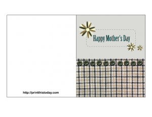 Free printable mother's day card for a crafty mom