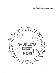 free mothers day certificate coloring page