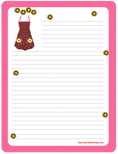Free Letter pad and note pad stationery printable