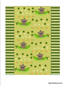 Free baby shower candy wrapper with African American baby in pea pod
