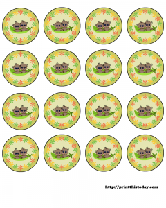 free twin pea pod African American babies, baby shower round labels