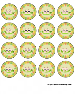 free twin pea pod babies baby shower round labels to download