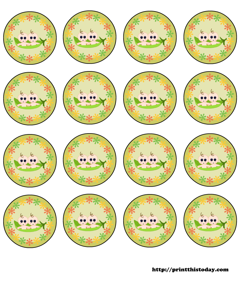free pea pod baby shower labels to download