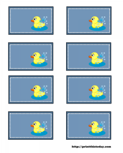 free baby shower labels with duck