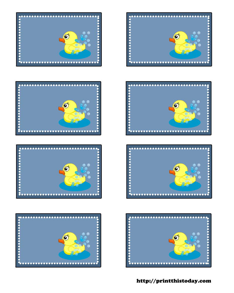 free printable baby shower labels with duck