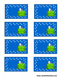 free baby shower labels with Frog