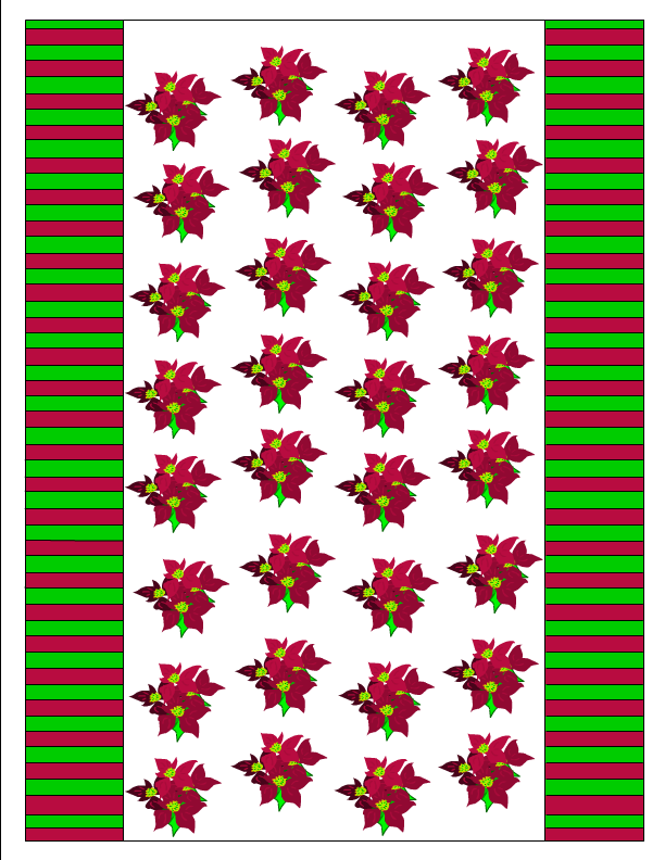 free printable candy wrapper with red flowers