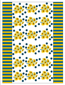 Free printable candy wrapper with sunflowers