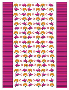 free printable candy wrapper with colorful flowers