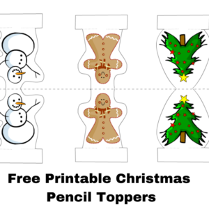 Free Printable Christmas Pencil Toppers