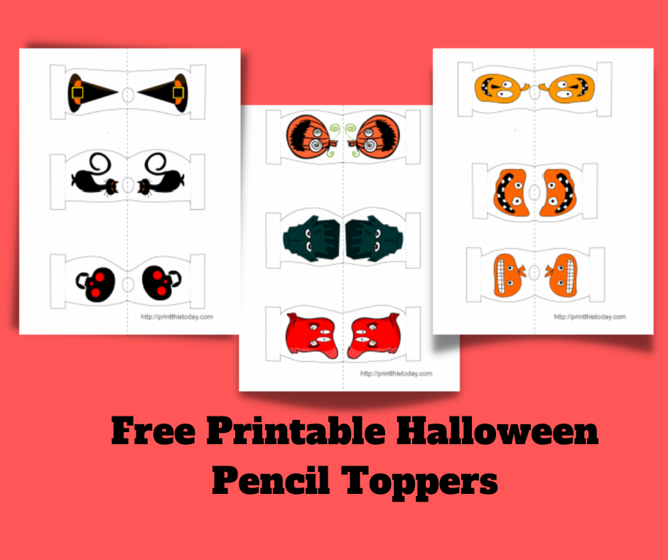 Free Printable Halloween Pencil Toppers