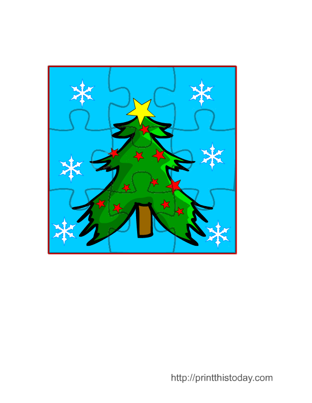 Free Printable Jigsaw Puzzle Game For Christmas