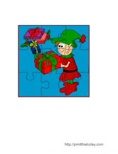 Free Christmas Jigsaw Puzzle template