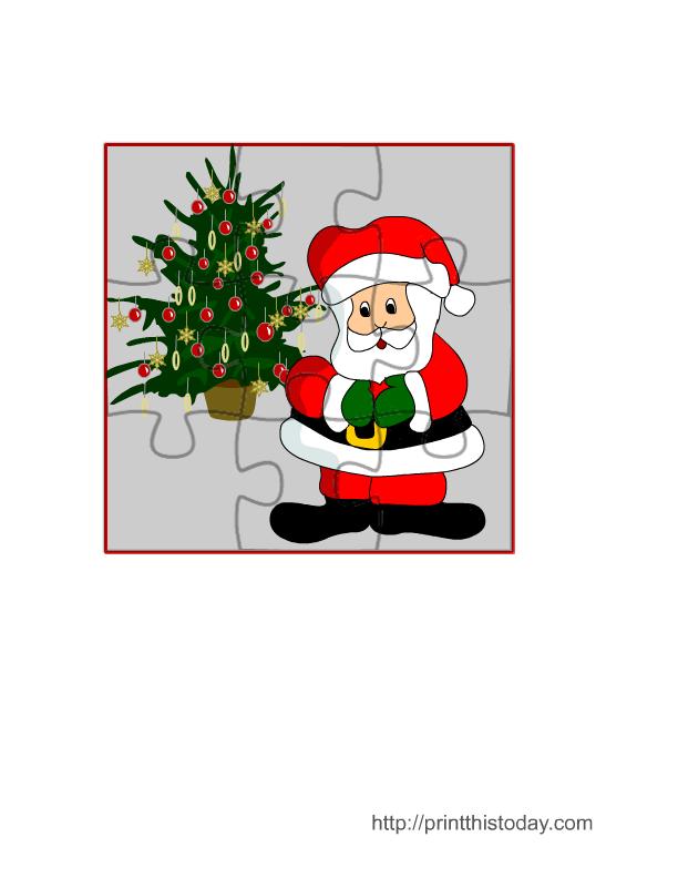 free christmas game of jigsaw