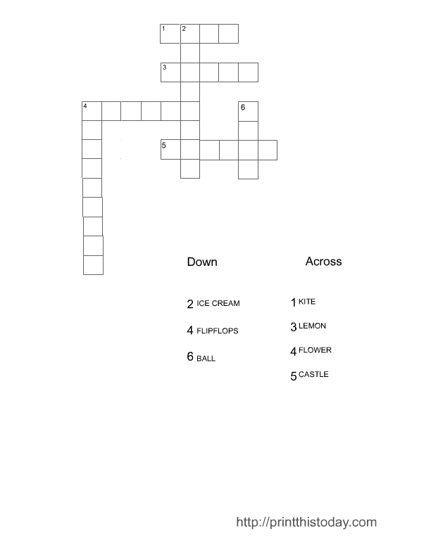 Click Here To Download The Same Crossword Puzzle In Regular Style And Without Pictures