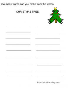 Make The words Christmas Activity
