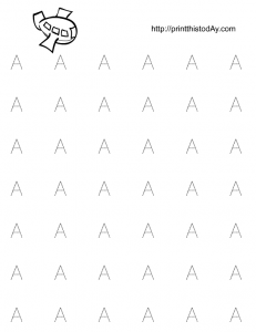 Free printable tracing worksheet for kindergarten