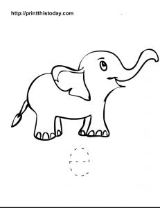 free printable alphabet e tracing worksheet for preschool