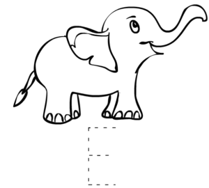 Free Printable alphabet E Tracing Worksheets