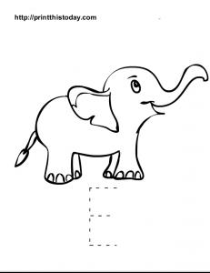 Capital letter E tracing worksheet for preschool