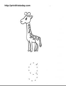 free printable alphabet g tracing worksheet for preschool