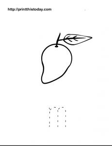 free printable alphabet m tracing worksheet for preschool