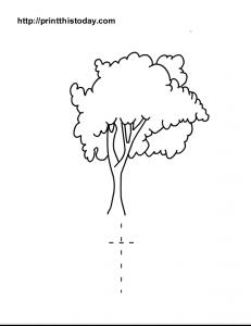 free printable alphabet T tracing worksheet for preschool