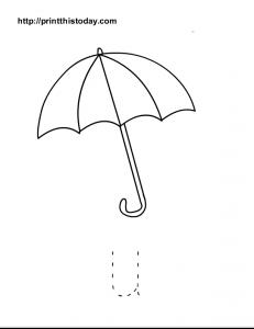 free printable alphabet u tracing worksheet for preschool