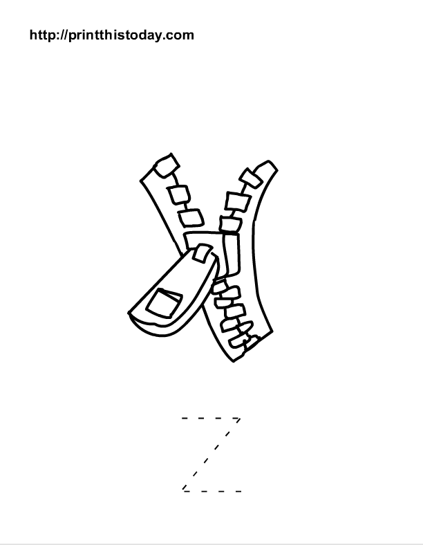 free printable alphabet z tracing worksheet