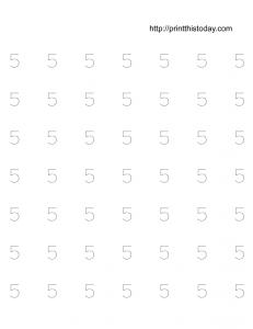 free printable number 5 math worksheet for preschool