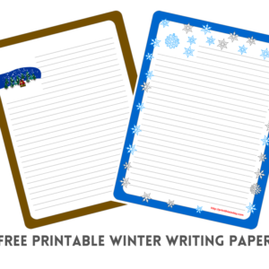Free Printable Winter Writing Paper