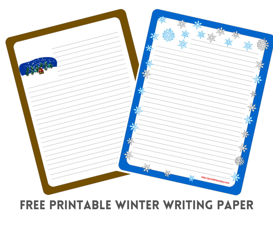 Free Printable Winter Writing Paper