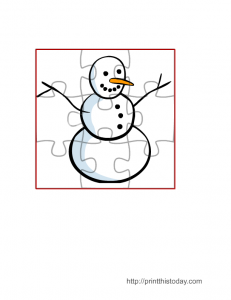 Free printable winter jigsaw puzzles